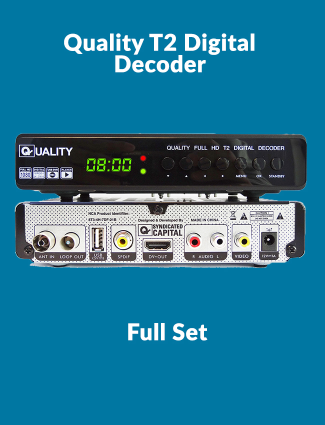 Quality Digital Decoder DVB T2