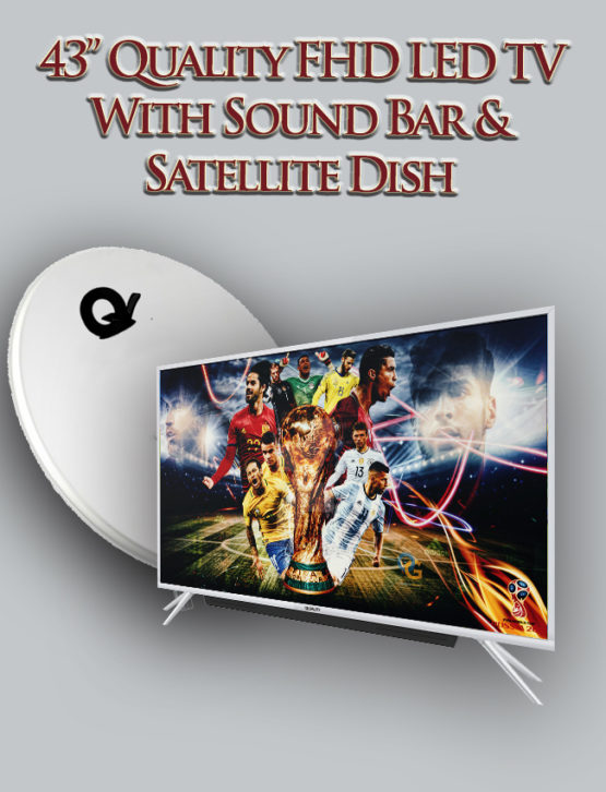 43 inch Quality HD led digital satellite tv