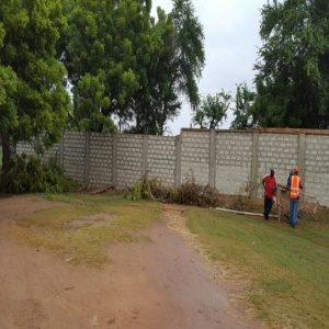 CONSTRUCTION OF FENCE WALL AROUND UG SCH. OF MEDICINE