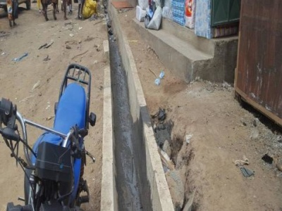 DRAINAGE WORKS AT AMAR MARKET RHS